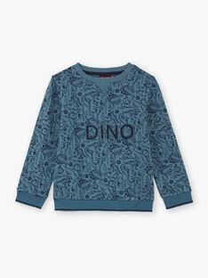 Sweat bleu marine imprimé dinosaures enfant garçon BUWAGE2 / 21H3PGB1SWE614