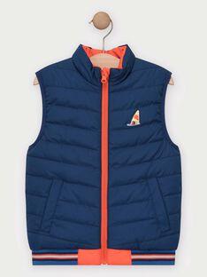 Doudoune sans manche réversible orange et bleu garçon  TUDOUNAGE 1 / 20E3PG92GSME400