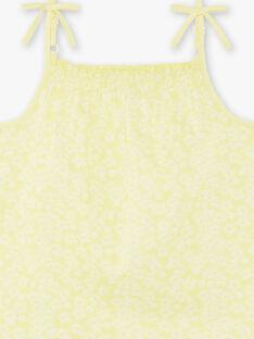 Débardeur jaune enfant fille ZLYNETTE3 / 21E2PFL3DEBB104