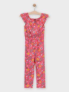 Combinaison pantalon fleurie fille  TOFILETTE / 20E2PFG1CBL302