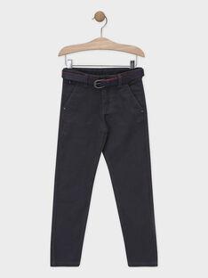Pantalon gris avec ceinture garçon SICEINTAGE / 19H3PGP1PAN941
