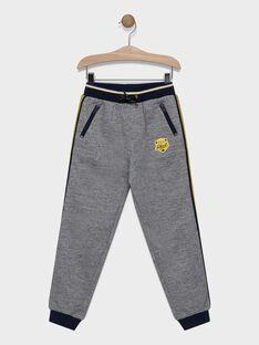 Pantalon gris chiné en molleton garçon SADAGE / 19H3PG49PANJ924