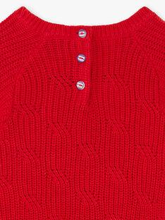 Pull rouge avec rubans fantaisies ZOPULETTE / 21E2PFB1PUL050