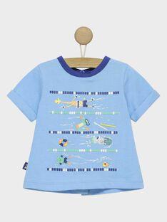 Tee shirt manches courtes bleu RAUMEO / 19E1BGP1TMC205