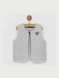 Cardigan sans manches gris chiné RAALEXY / 19E1BG21CSM943