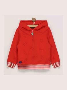 Sweat shirt rouge READIAGE / 19E3PGC2SWE505