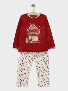 Pyjama Rouge SOLALETTE / 19H5PFQ2PYJ511