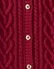 Cardigan prune en maille fantaisie VAELISE / 20H1BF61CAR709