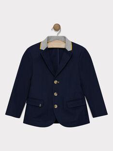 Veste bleu marine en chevron garçon SATEDAGE / 19H3PG41VES070