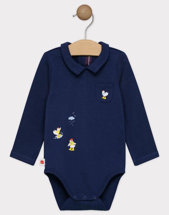 Body manches longues bébé garçon bleu marine SAFERDI / 19H1BG41BODC214