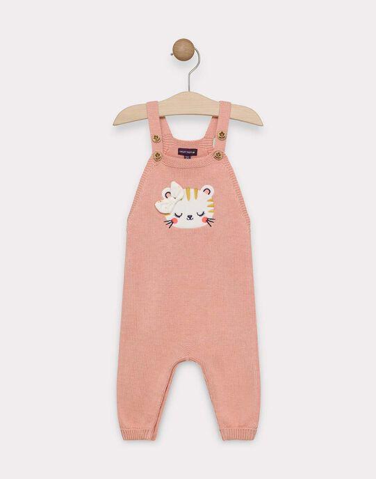 Salopette en tricot rose bébé fille SAGLADYS / 19H1BF61SAL413
