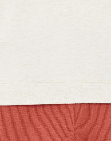 Ensemble sweat beige chiné et pantalon en côte ZAEUGENE / 21E1BGB1ENS001