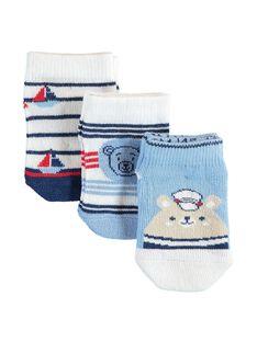 Lot de 3 paires de chaussettes basses bébé garçon  TIVON / 20E4BG92LCB001