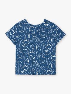 Tee shirt manches courtes bleu imprimé ZAEFRON / 21E1BGB1TMCC230