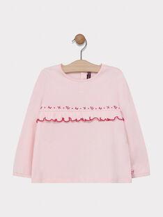 Tee-shirt rose pale fille SABOBETTE 1 / 19H2PF91TML301