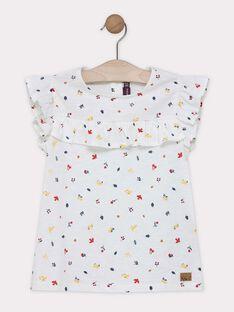 Tee-shirt à motif avec manches courtes volantées SELOVETTE / 19H2PF22TMC001