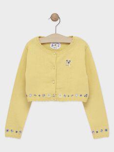 Cardigan jaune fille  TOICAETTE / 20E2PFO1CAR103