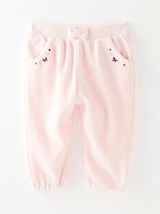 Pantalon de jogging en velours rose VAELENE / 20H1BF61JGB301