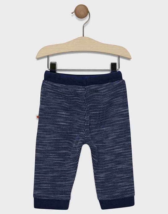 Pantalon de jogging bébé garçon bleu marine    SAFLORIN / 19H1BG41JGBC214