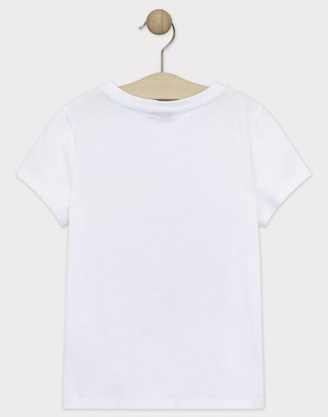 Tee-shirt manches courtes écru garçon  TYPOLAGE / 20E3PGM1TMC000