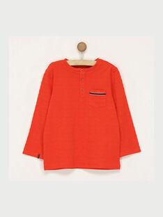 Tee shirt manches longues rouge RASICAGE2 / 19E3PGB2TML330