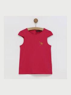 Tee shirt manches courtes fuchsia RUFAPETTE 3 / 19E2PFM3TMC304
