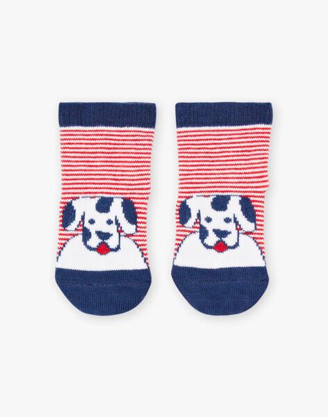 Chaussettes rayées motif chien bébé garçon BABASTIEN / 21H4BG11SOQ720