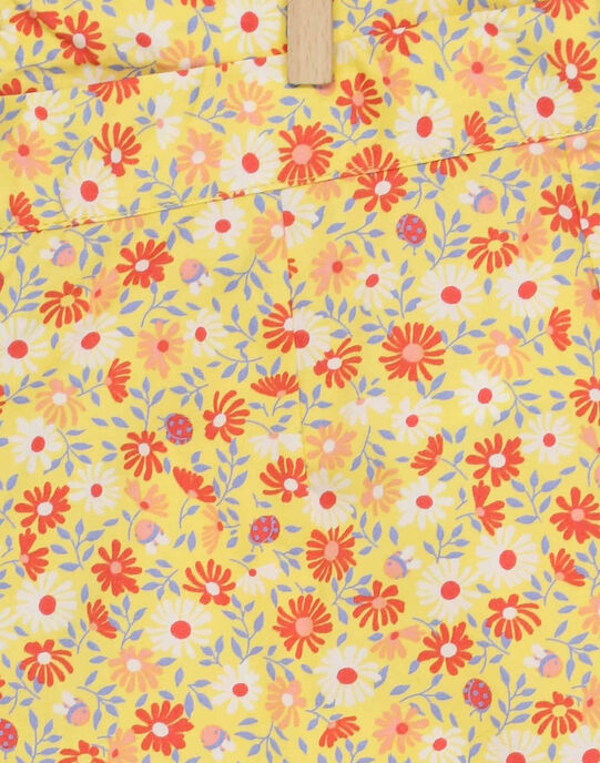 Short jaune RYFLOETTE / 19E2PFH1SHO010