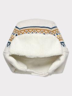 Bonnet beige bébé garçon SARAFAEL / 19H4BGI1BONA006