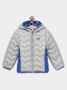 Doudoune manches longues grise et bleu garçon vendue dans un pochon  TUAGE / 20E3PGT3DTV904