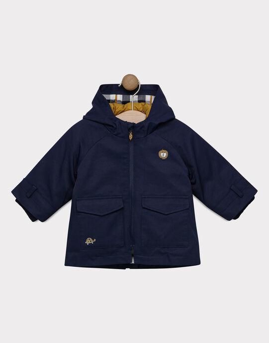 Parka 3 en 1 bébé garçon bleu marine et camel  SINAEL / 19H1BG71IMP070