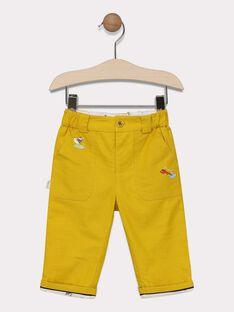 Pantalon uni jaune moutarde  SAFINN / 19H1BG41PAN109