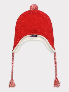 Bonnet rouge jacquard lurex fille SOIFUNETTE / 19H4PFI1BON050