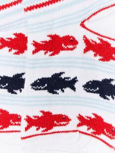 Chaussettes à rayures et imprimé requins ZIMAGE / 21E4PGT1SOB000