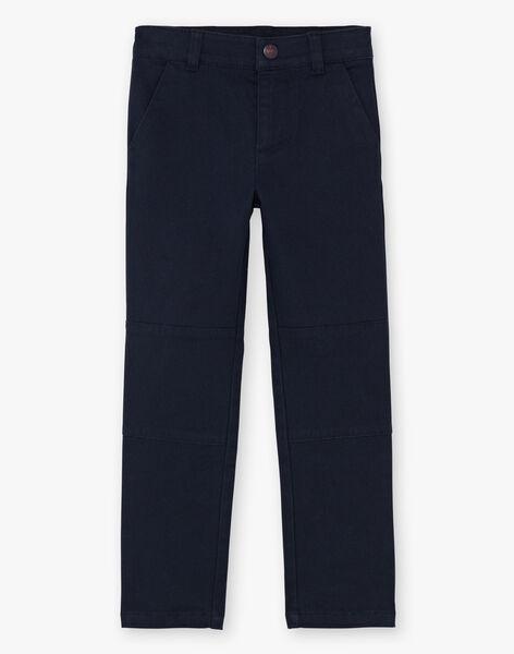 Pantalon bleu marine et ceinture enfant garçon BEGRAGE / 21H3PG52PAN070