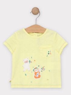 Tee Shirt Manches Courtes Jaune TAGINO / 20E1BGG1TMC102