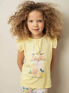 Tee Shirt Manches Courtes Jaune ZILEMETTE / 21E2PFO1TMCB104