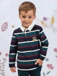 Polo manches longues à rayures enfant garçon BEROINAGE / 21H3PG91POL715