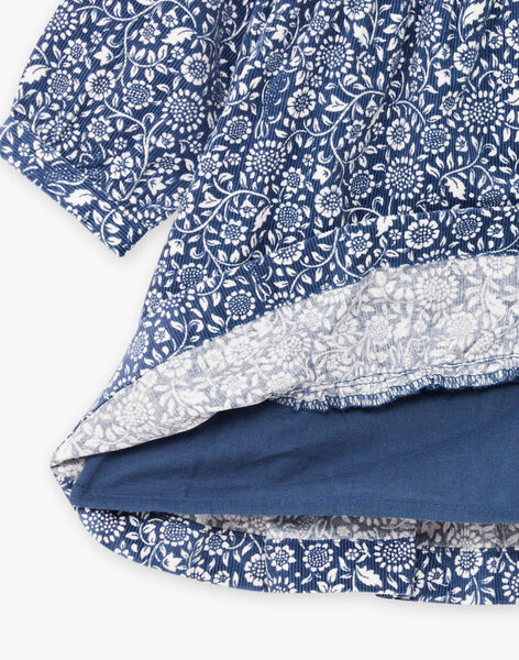 Robe imprimé fleuri en velours côtelé bébé fille BAKORALIE / 21H1BFL1ROB715