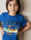 Pyjama short bleu et blanc enfant garçon TEDINAGE / 20E5PGE3PYJ208