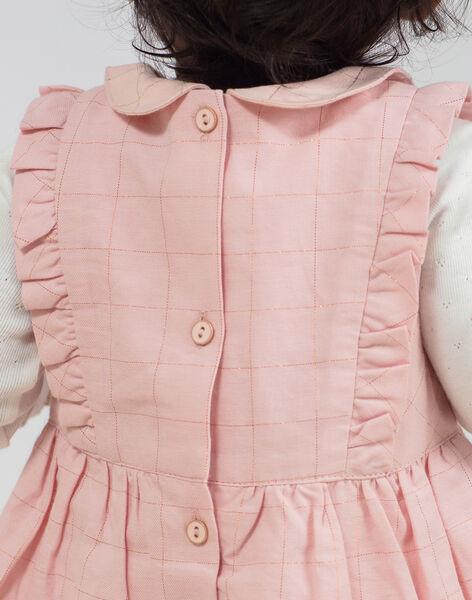 Robe sans manches brodée rose bébé fille BAGILLY / 21H1BF91CHSD329