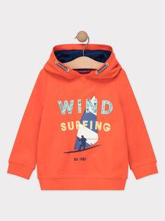Sweat shirt à capuche orange garçon  TUSITAGE 2 / 20E3PG92SWEE400