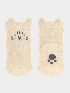 Chaussettes blanc chiné bébé garçon SYALBER / 19H0AG11SOQA010