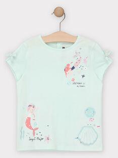 Tee Shirt Manches Courtes Bleu TIFOETTE / 20E2PFD3TMC213