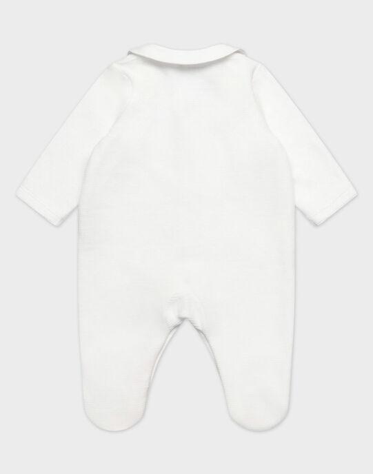 Dors bien et son bonnet en velours fantaisie écru bébé garçon TYBALEINE B / 20E0NGF6GRE000