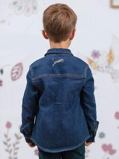 Chemise en jean manches longues enfant garçon BENOUAGE / 21H3PG91CHMP269