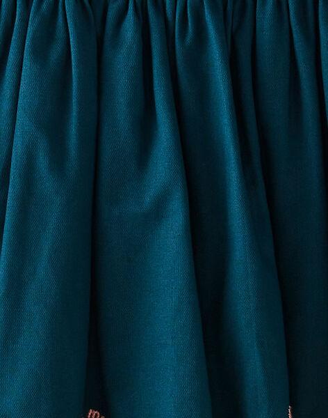 Jupe verte avec frise brodée VOJUPETTE / 20H2PFL2JUPC235