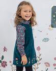 Robe sans manches brodée en velours côtelé enfant fille BOERINETTE / 21H2PF91CHS714