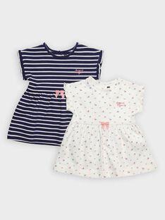 Lot de deux robes imprimées bébé fille  TIRAILA / 20E1BF91LDR001