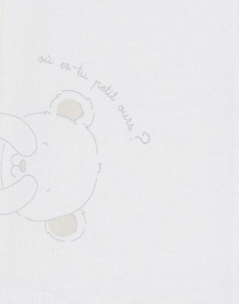 Body écru bébé garçon  TUVILFRID / 20E0CGR2BOD000